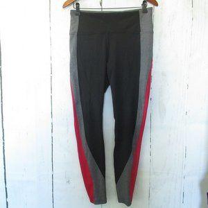 Lululemon Get Going Train Tight Leggings High Rise 10 Black Red Stripe